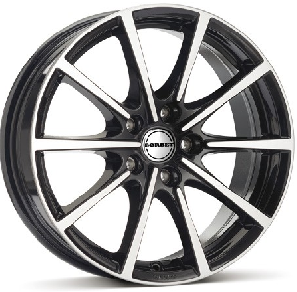 7.0X16 5/100 ET38 D64.0 BL5 BLACK POLISHED